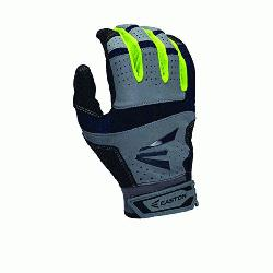 S9 Neon Batting Gloves Adult 1 Pair (Grey-Navy, Medium) : Textured Sheepskin offers a great