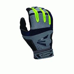 9 Neon Batting Gloves Adult 1 Pair (Grey-Navy, XL) : Textured Sheepskin offers a great