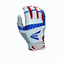 ars and Stripes Batting Gloves 1 Pair (Medium) : Textured Sh