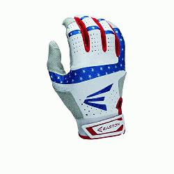 Stars and Stripes Batting Gloves 1 Pair (Medium) : Textured Sheepskin offers a grea