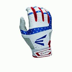 rs and Stripes Batting Gloves 1 Pair (Small) : Textured Sheepskin offers a great soft feel co