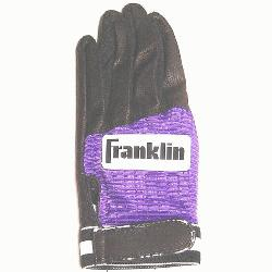 in Batting Glove Black Purple 1ea (Large, Right Hand) : Franklin batting glove features pit