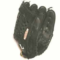lugger 11.5 Omaha Crossover Series Black Modified Trap Web Baseball Glove. Crosso