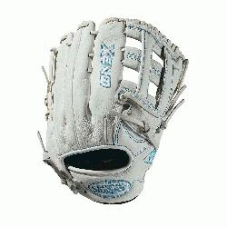field glove Closed weave web Memory foam wrist lining White and Aqua blue Femal