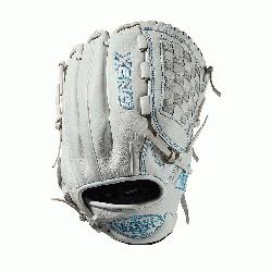 love Dual post web Memory foam wrist lining White and Aqua
