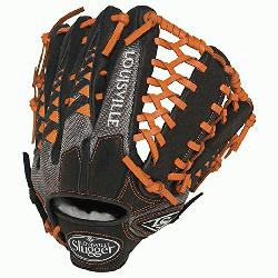 e Slugger HD9 12.75 inch Baseball Glove (Orange, Left Hand Throw) : Louisville Slugger HD9 12.75