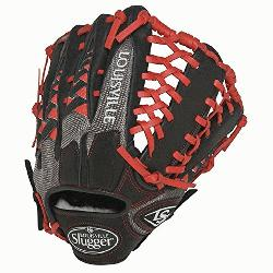ille Slugger HD9 12.75 inch Baseball Glove (Scarlet, Right Hand Throw) : Louisville Slugger H