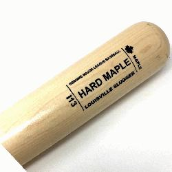 Hard Maple bat from Louisville Slugger I13 Turning Model a