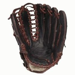 5 is a 12.75 Outfield model. It has a closed back with strap, and an impro