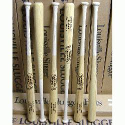 Slugger 6 pack of professional wood baseball bats.  P72 Turning model used by Derek Jeter a