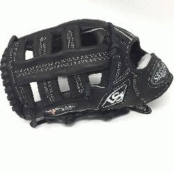 ville Slugger Pro Flare Black 12.75 in Baseball Glove (Left Handed Throw) : Louisville Slugger Pro