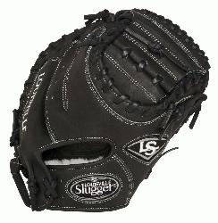 ouisville Slugger Pro Flare Black 32.5 inch Catchers Mitt (Right Handed Throw) : Louisville