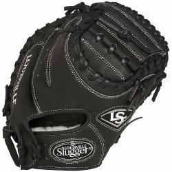 ouisville Slugger Pro Flare Black 32.5 inch Catchers Mitt (Right Handed Throw