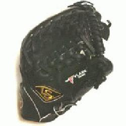 ed Trap Web and Open Back. Gold Stitching. Louisville Slugger Pro Flare Baseball Glove 11.75 inche