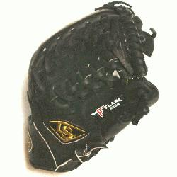 eb and Open Back. Gold Stitching. Louisville Slugger Pro Flare Baseball Glove 11.75 inches. T