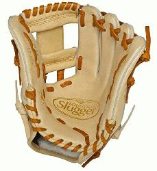 isville Slugger Pro Flare Cream 11.5 inch Baseball Glove (Right Handed Throw) : Designe