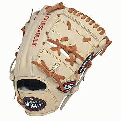 e Slugger Pro Flare Cream 11.75 2-piece Web Baseball Glove