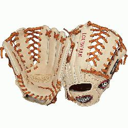 Slugger Pro Flare Cream 13 inch Outfield Baseball Glove (Left Handed Throw) : Louisville