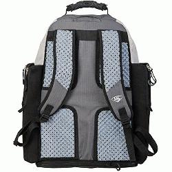 Louisville Slugger Series 9 Stick Pack Back Pack EBS914-SP : Inverted cargo hatch. Embroidere