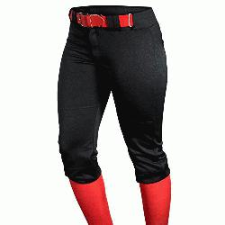 ouisville Slugger Womens Fast Pitch OKC Low Rise Softball Pants Black : Womens Fast Pitch P