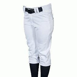 ville Slugger Womens Fast Pitch OKC Low Rise Softball Pants White :