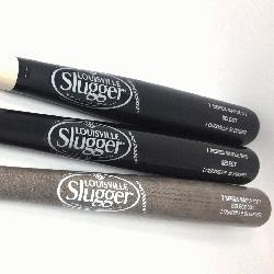 Maple Wood Baseball Bats from Louisville Slugger. Cupped. 1 M110, 1 C271, and 113