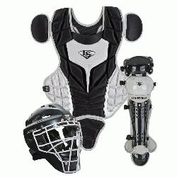 lugger PGS514-STY Series 5 Youth Catchers Gear Set Helmet Features Glossy