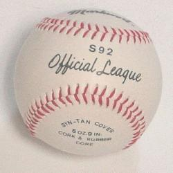 ial League Baseball (1 each) : Markwort Official Baseball with Syn-Tan cover wi