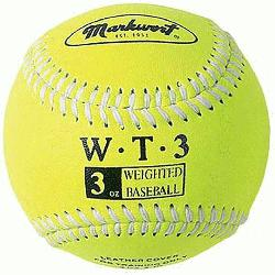 Leather Covered Training Baseball (3 OZ)