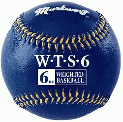 Leather Covered Training Baseball (6 OZ) : Build your arm strength with Ma