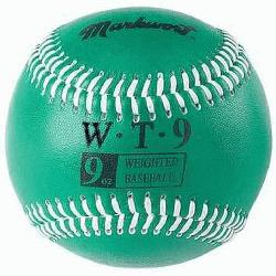 rt Weighted 9 Leather Covered Training Baseball (9 OZ)
