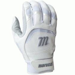 2014 Adult Batting Gloves (White, XXL) : Based i