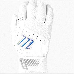 ine leather palm provides comfort and enhanced grip Dimpled mesh back for