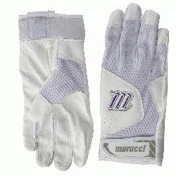 ucci's earlier batting glove line, this year's Quest features an innovative dimpled mes