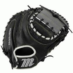 e MarucciA Oxbow Series 33.5 Inch Catchers Mitt features a full-grain c
