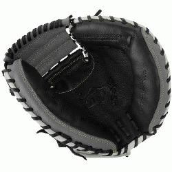 e MarucciA Oxbow Series 33.5 Inch Catchers Mitt features a full-grain cowhide leather shell for