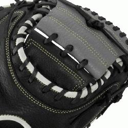 A Oxbow Series 33.5 Inch Catchers Mitt features a full-grain cowhide leather she