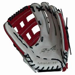 Miken Pro Series 13 slow pitch softball glove features soft, full-grain lea
