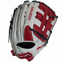 Series 13 slow pitch softball glove features soft, full-gra