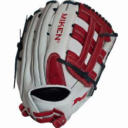 eries 13.5 slow pitch softball glove features soft, full-grain leat