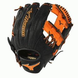 Mizuno 11.5 inch MVP Prime SE3 Baseball Glove GMVP1154PSE3 (Black-Orange, Ri
