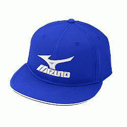 t Brimmed Branded Hat Royal Size XL : Mizuno Flat Brimmed Branded Hat