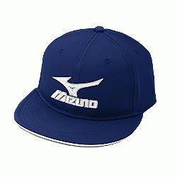 Flat Brimmed Branded Hat Royal Size XL : M
