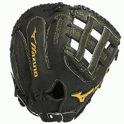 Mizuno GMP300 is a 13.00-Inch Pro sized first basemens mitt made from Deguchi Kip Leather, f