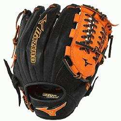 77PSE3 Baseball Glove 11.75 inch (Black-Orange, Right Hand Throw) :