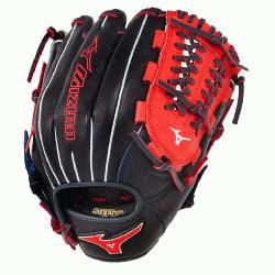 zuno GMVP1177PSE3 Baseball Glove 11.75 inch (Navy-Red, Right Hand Throw) :
