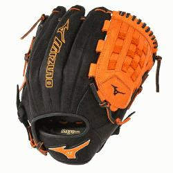 PSE3 MVP Prime Baseball Glove 12 inch (Black-Orange, Right Hand Throw) : Patent pending Heel Flex