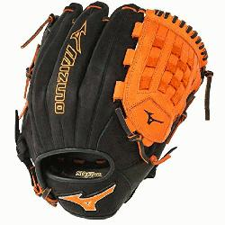P1200PSE3 MVP Prime Baseball Glove 12 inch (Black-Orange, Right Hand Throw) : Patent pend