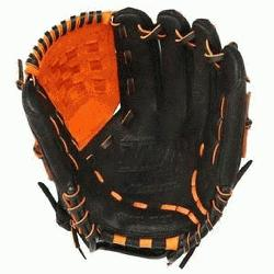 E3 MVP Prime Baseball Glove 12 inch (Black-Orange, Right Hand Throw) : Patent pending Heel Flex Tec