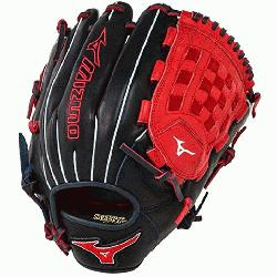 0PSE3 MVP Prime Baseball Glove 12 inch (Navy-Red, Right Hand Throw) : P